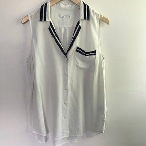 Equipment Silk Sleeveless Button Up Blouse M